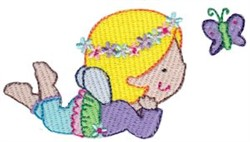Fairy Girl & Butterfly embroidery design