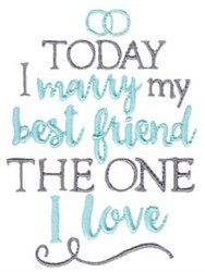 Marry My Best Friend embroidery design