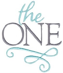 The One embroidery design