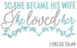 She Became His Wife embroidery design