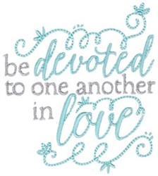 Be Devoted embroidery design