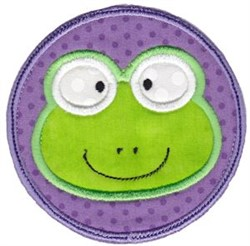 Face It Frog Applique embroidery design