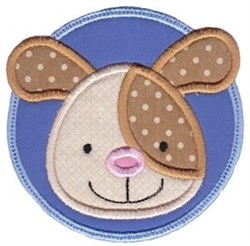 Face It Puppy Applique embroidery design