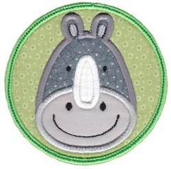 Face It Rhino Applique embroidery design