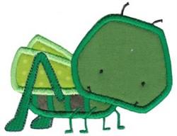 Little Bugs Applique Grasshopper embroidery design