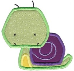 Little Bugs Applique Snail embroidery design