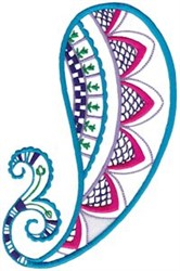 Mehndi Paisley embroidery design