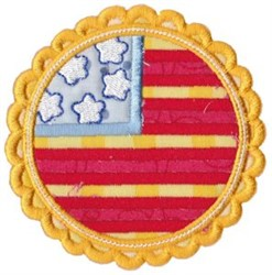 All American Patch embroidery design