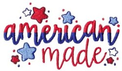 American Made embroidery design