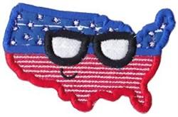 All American USA embroidery design