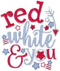 Red, White & You embroidery design