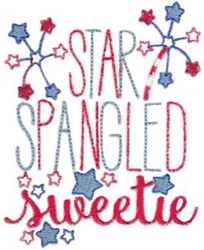 Star Spangled Sweetie embroidery design