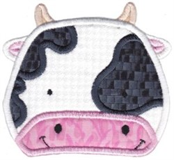 Cute Cow Applique embroidery design