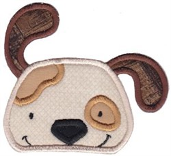 Cute Puppy Applique embroidery design