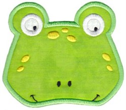 Cute Frog Applique embroidery design