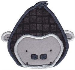 Cute Gorilla Applique embroidery design