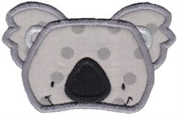 Cute Koala Applique embroidery design