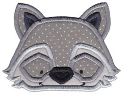 Cute Raccoon Applique embroidery design