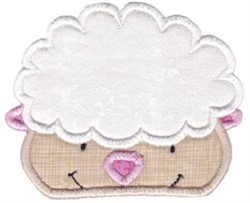 Cute Sheep Applique embroidery design