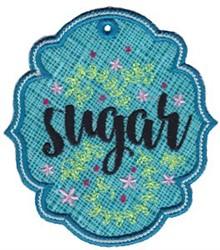 Sugar Label Applique embroidery design
