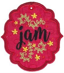 Jam Label Applique embroidery design