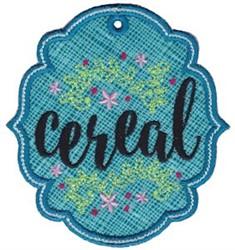Cereal Label Applique embroidery design