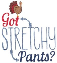 Stretchy Pants embroidery design