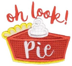 Oh Look! Pie embroidery design