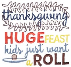 Huge Feast embroidery design