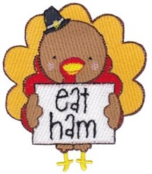 Eat Ham embroidery design