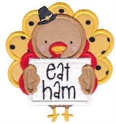 Eat Ham Applique embroidery design