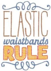Elastic Waistbands embroidery design