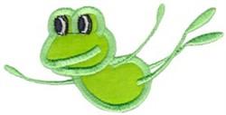 Applique Frog embroidery design