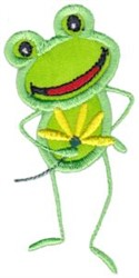 Frog & Daisy embroidery design