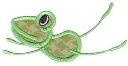 Applique Frog Jump embroidery design