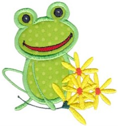 Flower Frog embroidery design