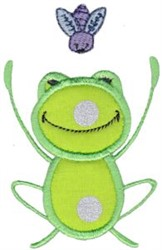 Frog & Fly embroidery design