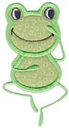 Applique Happy Frog embroidery design