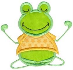 Yoga Frog embroidery design