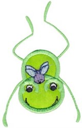 Fly & Frog embroidery design
