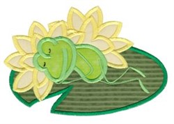 Lily Pad Frog embroidery design