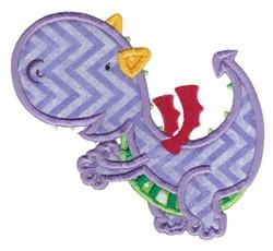 Purple Dragon embroidery design