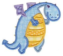 Bllue Dragon embroidery design