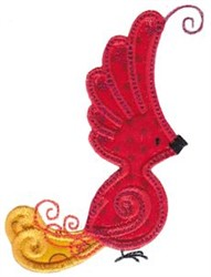 Red Bird Applique embroidery design