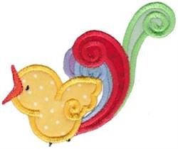 Applique Yellow Bird embroidery design