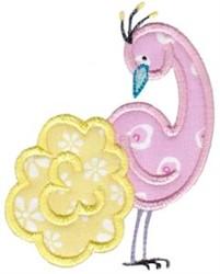 Pink Bird Applique embroidery design