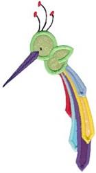 Applique Hummingbird embroidery design