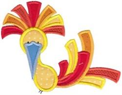 Fancy Bird Applique embroidery design