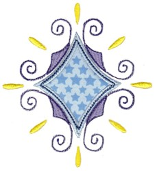 Diamond Applique embroidery design