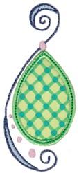 Swirly Drop Applique embroidery design